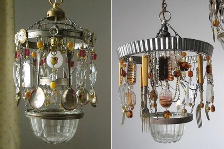 come-costruire-un-lampadario-con-oggetti-riciclati ...