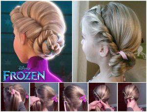 Elsa - Frozen - Acconciatura Vestiti carnevale fai da te - mybabybox