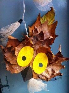 halloween-lavoretti-gufo-foglie