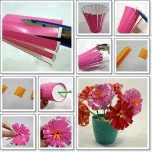 vasetti-creati-con-bicchieri-di-plastica