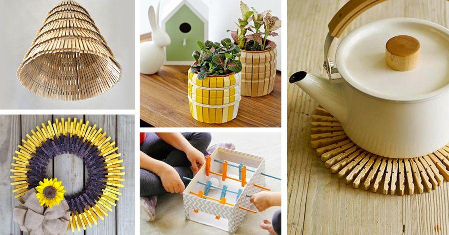 L 39 handmade con le mollette di legno helpmummy for Oggetti utili fai da te